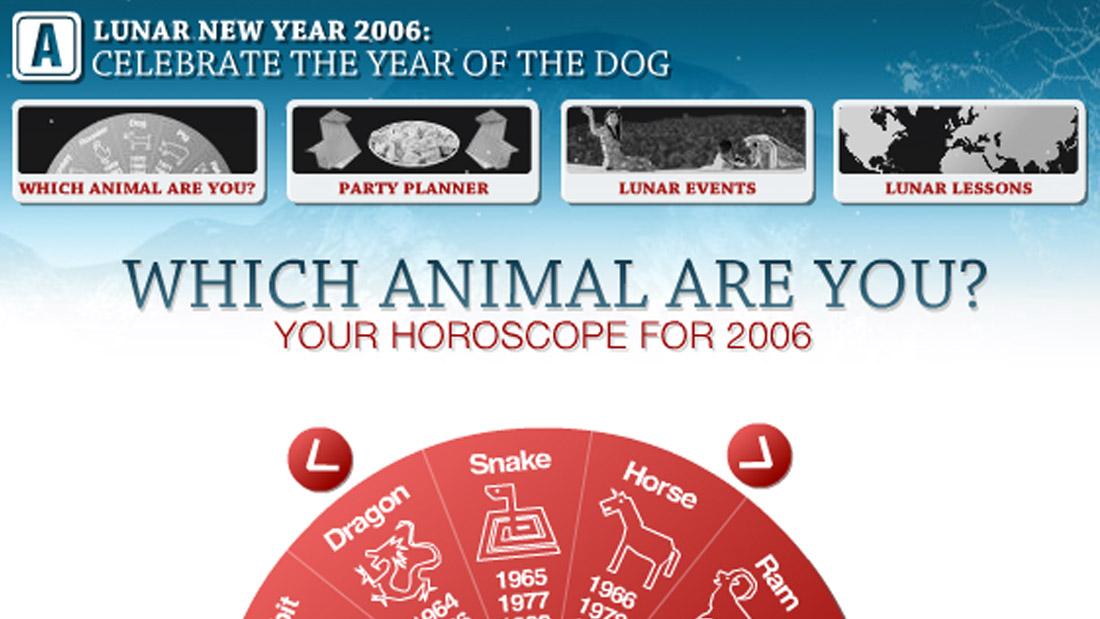 Lunar New Year microsite