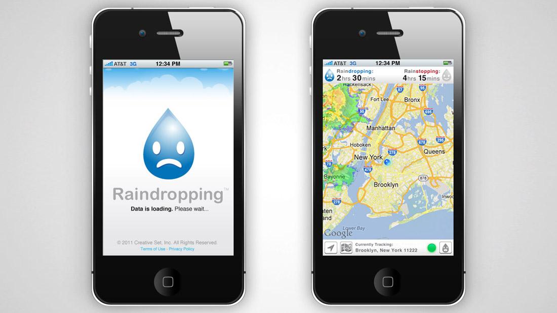 Raindropping app
