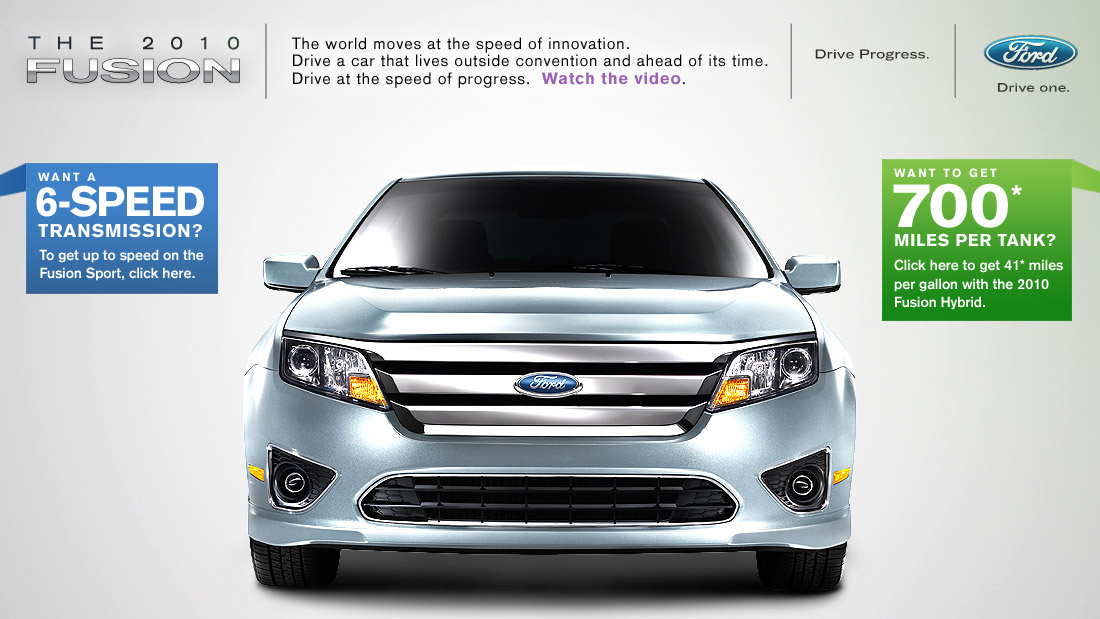 Ford Fusion microsite