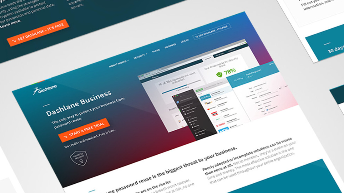 Dashlane rebrand + site redesign
